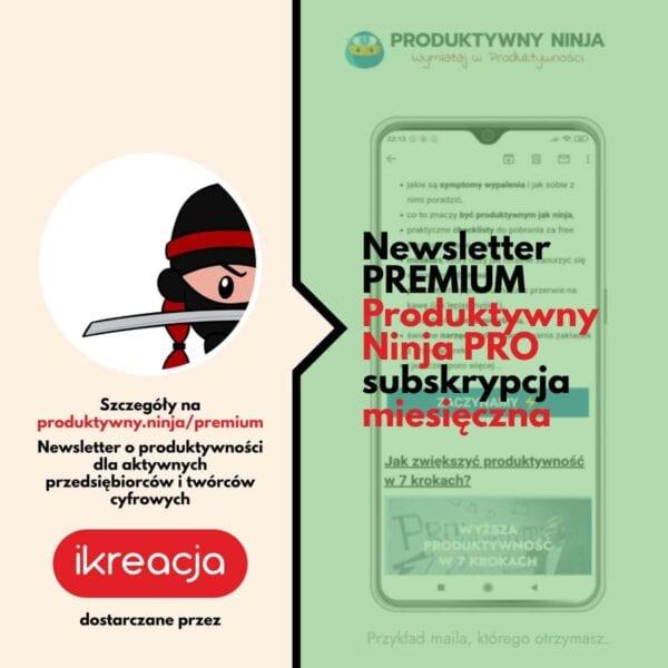 newsletter o produktywność premium subskrybować