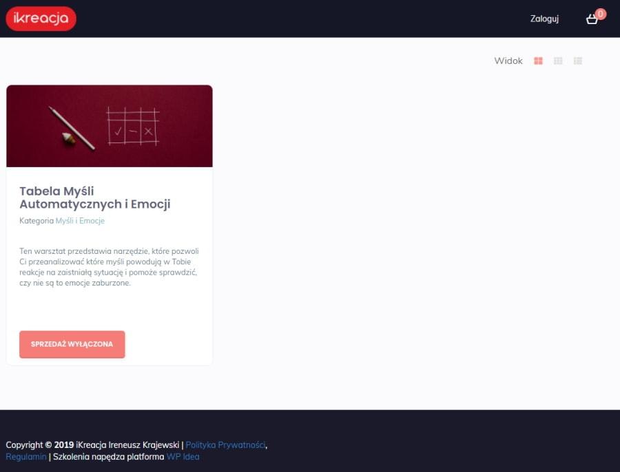 ikreacja platforma kursów online wp-idea